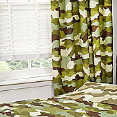 Army Camouflage Lined Curtains 72""