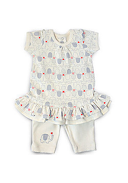 Natures Purest My First Friend - Dress & Leggings Set - Cream