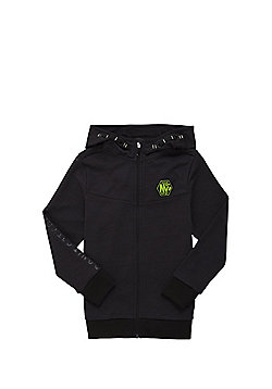 F&F Zip-Through Slub Hoodie - Black