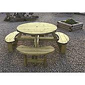 Circular 8 Seater Tanalised Round Picnic Table