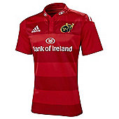 adidas Munster Official European Match Rugby Jersey - All Sizes Available - Red & White
