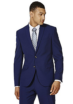 F&F Slim Fit Suit Jacket - Cobalt