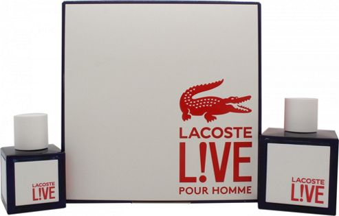 Lacoste Live Gift Set 100ml EDT + 40ml EDT For Men