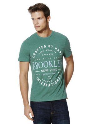 F&F Collegiate New York T-Shirt M Green