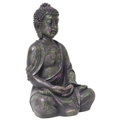 30cm Multi-coloured Splat Polyresin Buddha Garden Ornament