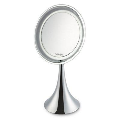 Carmen Illuminated Magnifying Mirror Silver