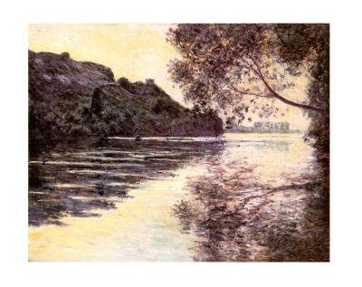 Claude Monet Effet De Soleil Couchant Sur La Seine At Port-Ville Mini Print