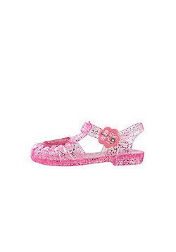 Girls Peppa Pig Glitter Pink Jelly Sandals Beach Kids Summer Sizes 3 to 9 - Pink