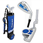 Young Gun Sgs Junior Birdie Right Hand Golf Set + Bag Age 6-8 - Blue