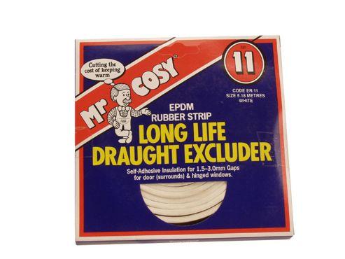 Mr Cosy Er/11 Epdm Rubber Tape White 6M