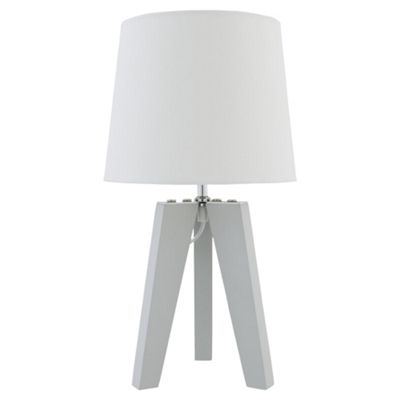 Buy tesco tripod table lamp grey from our table desk bedside tesco tripod table lamp grey mozeypictures Gallery