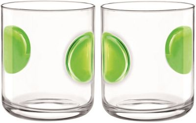 Bormioli Rocco Giove Water Tumbler Glasses - Set Of 2 - Green - 310ml