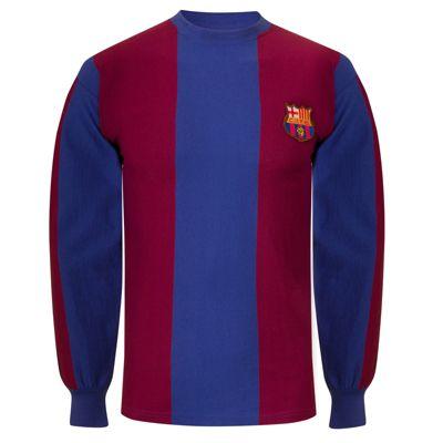 FC Barcelona Mens 1974 Long Sleeve Shirt Small