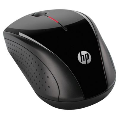 HP X3000 2.4GHz Wireless Optical Mobile Mouse - Black