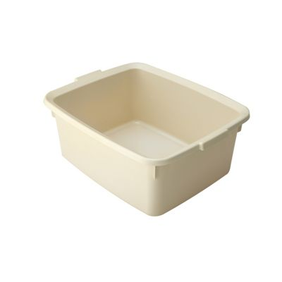Addis 5-Star Plastic Washing Up Bowl, High Gloss, Easy To Clean, 12L (Cream)