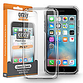 Apple iPhone 7, iPhone 8 Thin Back TPU Gel Transparent Case by Orzly