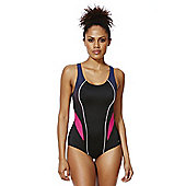 F&F Active Ombre Panel Swimsuit - Black