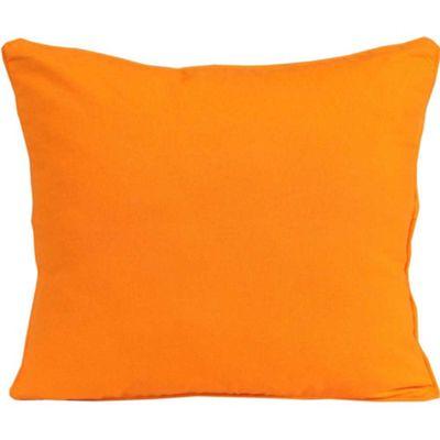 Homescapes Cotton Plain Orange Cushion Cover, 60 x 60 cm