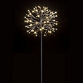 70cm Garden Stake Christmas Light with Folding Silver Branches