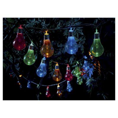 buy tesco 20 bulb solar string lights multi coloured from. Black Bedroom Furniture Sets. Home Design Ideas