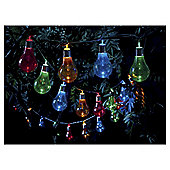 Tesco 20 Bulb Solar String Lights, Multi-coloured