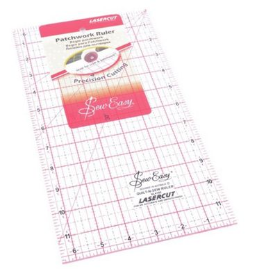 Sew Easy Quilters Rectangular Patchwork Ruler (12