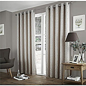 Curtina Harlow Taupe Thermal Backed Curtains -90x108 Inches (229x274cm)