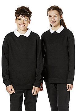 F&F School Unisex Sweatshirt with As New Technology - Black