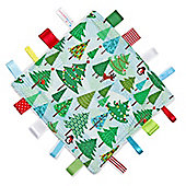 Dotty Fish Baby Comfort Tag Blanket - Frosty Trees