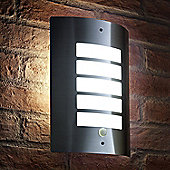 Auraglow Stainless Steel LED Energy Saving Motion Activated PIR Sensor Outdoor Security Wall Light - Cool White