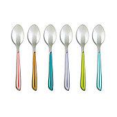 Amefa Eclat Metallics Set of 6 Teaspoons Spoons Shimmer Multi Colour