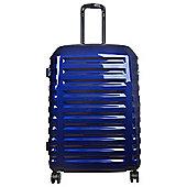 Tesco Vienna Large 8 wheel Gloss Blue Suitcase