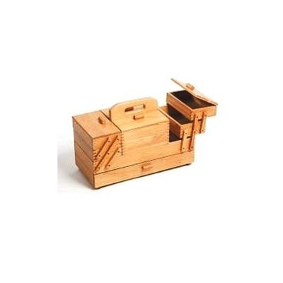 Hobby Gift 4 Tier Large Light Wood Cantilever Workbox