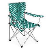 Trail Polka Dot Folding Festival Chair - Teal