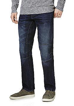 F&F Straight Leg Jeans with Belt - Dark wash