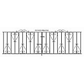 Wrought Iron Style Scroll Metal Driveway Gate 305x91cm