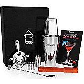 Savisto Premium 8 Piece Boston Cocktail Shaker Gift Set and Recipe Book