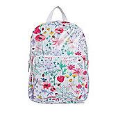 F&F Wildflower Print Mini Backpack White Multi One Size