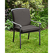 Gardenista Water Resistant Seat Pad for Homebase Lucca Garden Chair - Black