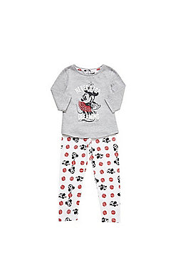 Disney Minnie Mouse Slogan Pyjamas - Grey marl