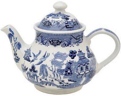 Churchill China Blue Willow Georgian 1.2L Teapot WBMB1TPG1