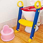 Baby Toddler Ladder Step Potty Training Toilet Seat