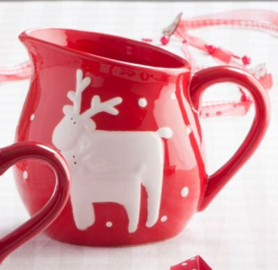 Red Reindeer Christmas Jug - Large