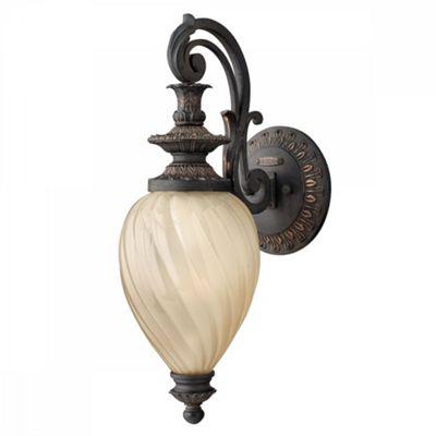 Aged Iron 1lt Small Wall Lantern - 1 x 100W E27