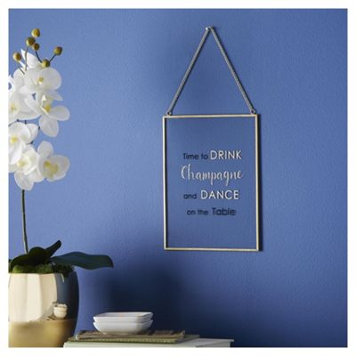 Fox & Ivy  Glitter Champagne Slogan Plaque