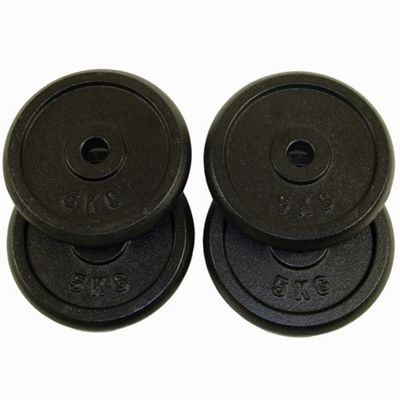 Confidence 20Kg (4 X 5Kg) Free Weight Iron Plates - Dumbbell + Barbell Discs