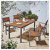 Kingsbury Metal and Wood 5 Piece Dining Set