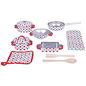 Bigjigs Toys Spotted Kitchenware Set for Children - Kitchen Playsets