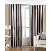 Riva Home Fiji Faux Silk Eyelet Curtains - Silver