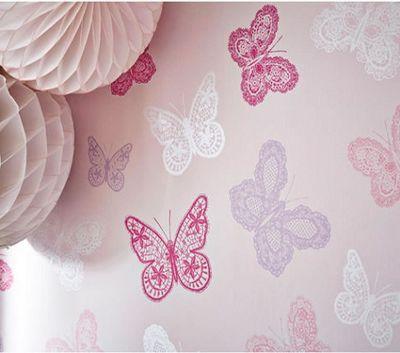 Pink Butterfly, Bedroom Wallpaper